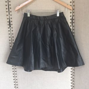 H&M Mini Skirt - Faux Leather NWT